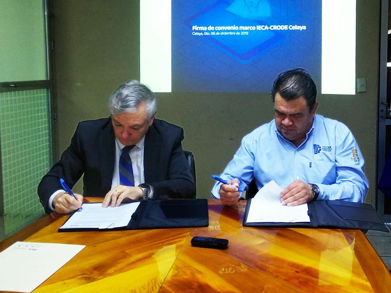 Acuerdo entre IECA y CRODE favorece a estudiantes en innovación