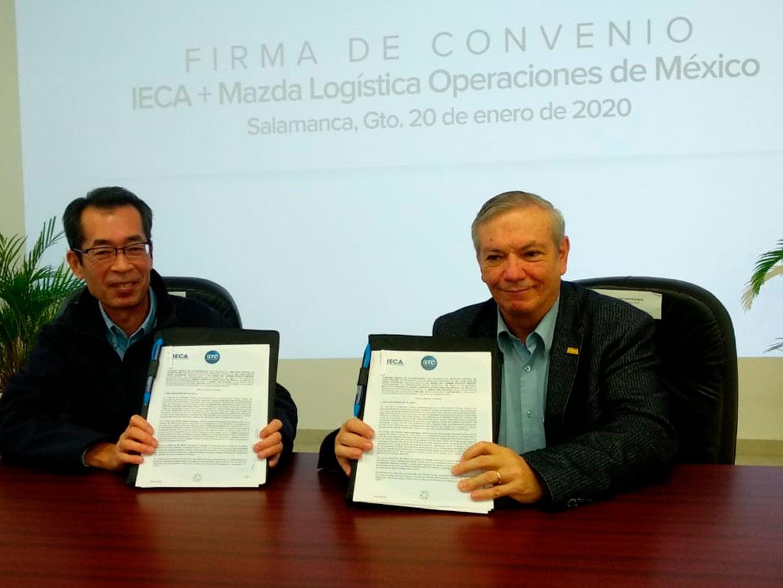 Unen esfuerzos IECA y Mazda Logística para la formación de personal