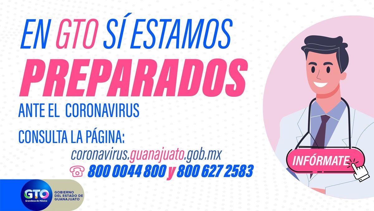 Conoce el status del coronavirus en Guanajuato